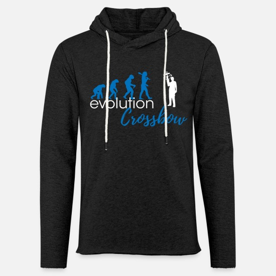 Crossbow Hoodies & Sweatshirts - Crossbow evolution - Unisex Sweatshirt Hoodie charcoal grey