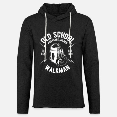 Old School Rap Old School - Felpa con cappuccio leggera unisex