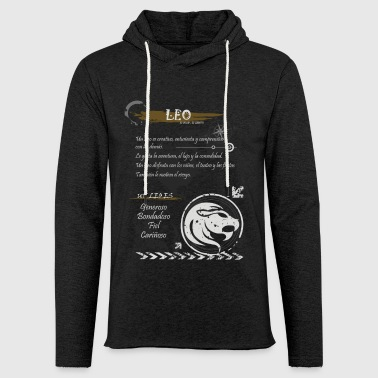 Leo LEO SIGN - Light Unisex Sweatshirt Hoodie