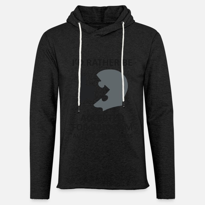 Autism Hoodies & Sweatshirts - Makes a great gift Tee Acceptance Design I'd rather be Accepted - Unisex Sweatshirt Hoodie charcoal grey