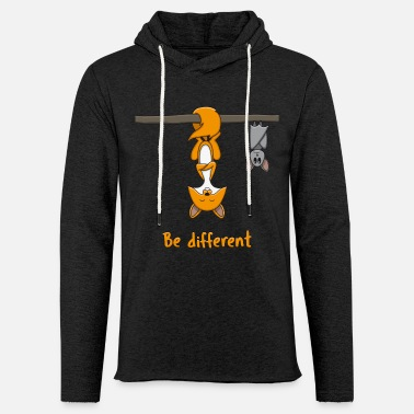 Different Be Different Fox Bat Funny Gift - Light Unisex Sweatshirt Hoodie