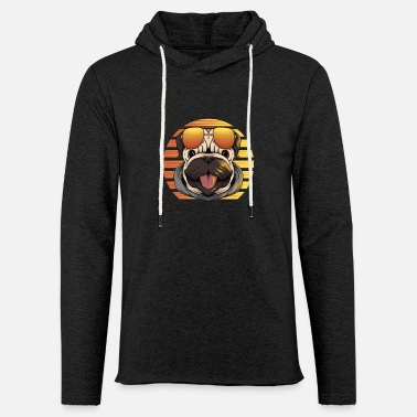 VINTAGE MOPS WITH SUNGLASSES AT SUNSET - Unisex Sweatshirt Hoodie