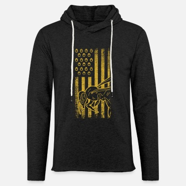 Save the Bees Bee Insect American Flag - Lekka bluza z kapturem unisex