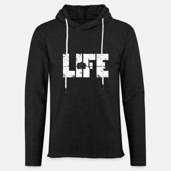 Love Hoodies & Sweatshirts - taking photos - Unisex Sweatshirt Hoodie charcoal grey