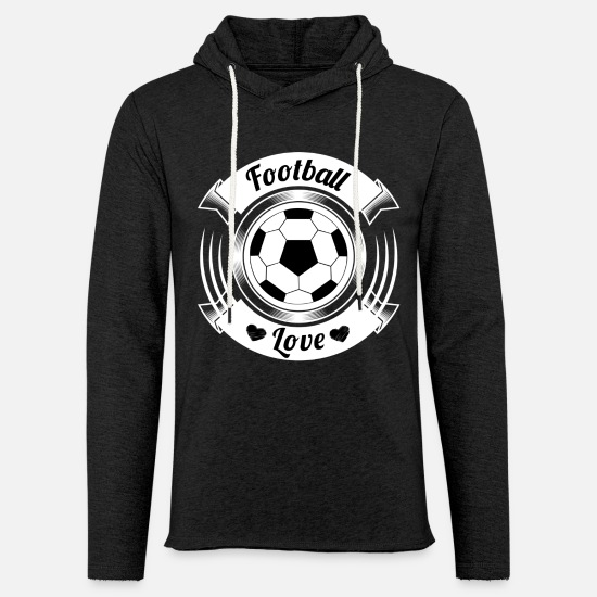 Ball Pullover & Hoodies - Football love - Unisex Kapuzen-Sweatshirt Anthrazit