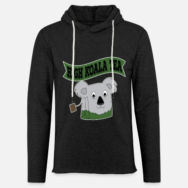 Tea High Koala Tea for tea lovers and teafanatics. - Light Unisex Sweatshirt Hoodie