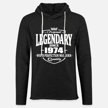 Since Legendary since 1974 - Sweat à capuche léger unisexe