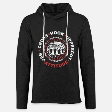 Uppercut Jab Cross Hook Uppercut Attitude Grunge - Light Unisex Sweatshirt Hoodie