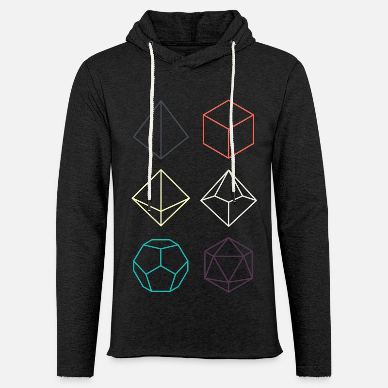 Dungeons And Dragons Hoodies & Sweatshirts - Minimal dnd (dungeons and dragons) dice - Unisex Sweatshirt Hoodie charcoal grey