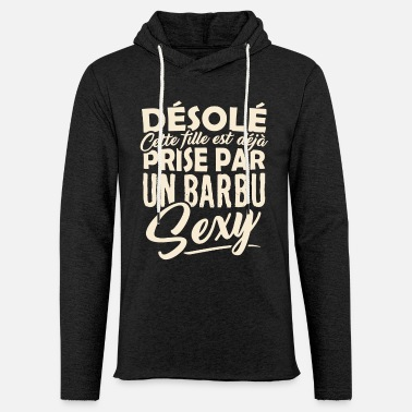 Barbu Tshirt Couple - Prise par un Barbu Sexy - Sweat-shirt à capuche léger unisexe