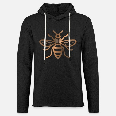 Manchester Manchester Bee - Brushed Metal Effect Print - Light Unisex Sweatshirt Hoodie