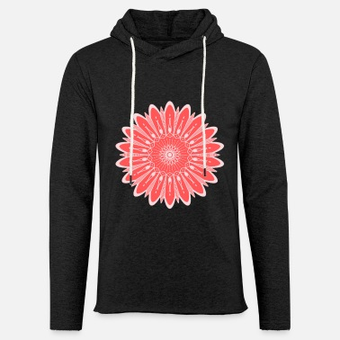 Colour CORAL COLOR FLOWER - Unisex Sweatshirt Hoodie