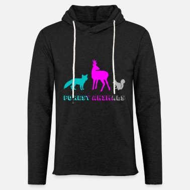 Forest Forest animals - Light Unisex Sweatshirt Hoodie