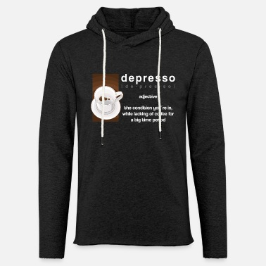 Funny Espressokaffe Cappuccino Funny Sayings Funny - Lätt hoodie unisex