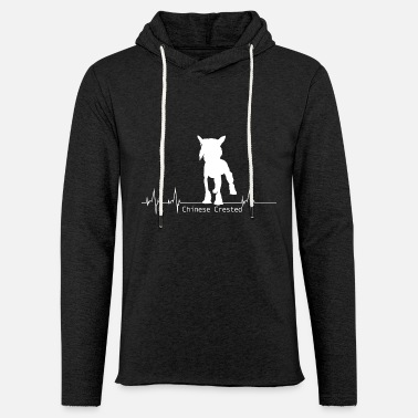 Chinese Crested Chinese Crested Shirt-Heartbeat - Light Unisex Sweatshirt Hoodie
