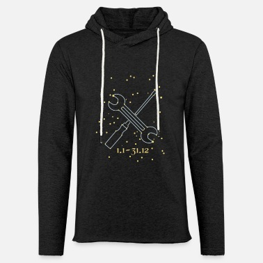 The zodiac sign for screwdrivers and mechanics - Unisex Sweatshirt Hoodie