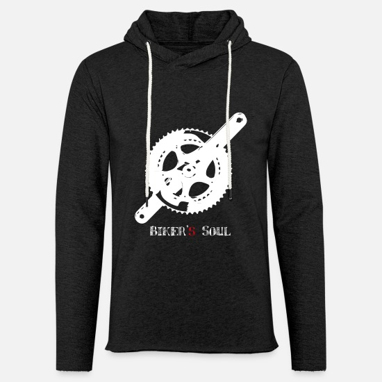 Biker Hoodies & Sweatshirts - pedal bike - Unisex Sweatshirt Hoodie charcoal grey