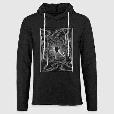 Head and squares - Light Unisex Sweatshirt Hoodie