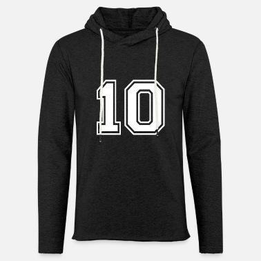 e4949551b71b Fútbol Americano Número 10 - fútbol americano - Diseño de la camisa camiseta  - Sudadera con