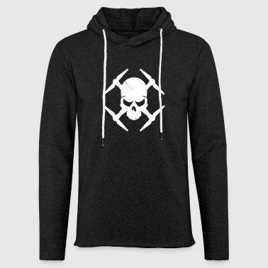 Aviation Drone with skull gift for drone aviators - Light Unisex Sweatshirt Hoodie