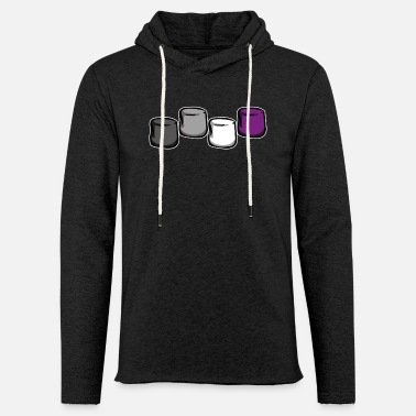 Asexual flag colors LGBTQ marshmallow gift - Unisex Sweatshirt Hoodie