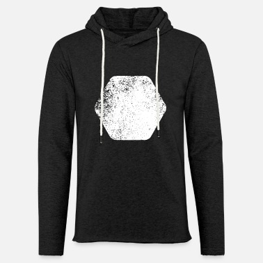 Shape SHAPES SHAPES GRUNGE - Sweat-shirt à capuche léger unisexe