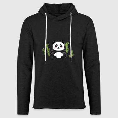 Panda loves bamboo - Light Unisex Sweatshirt Hoodie