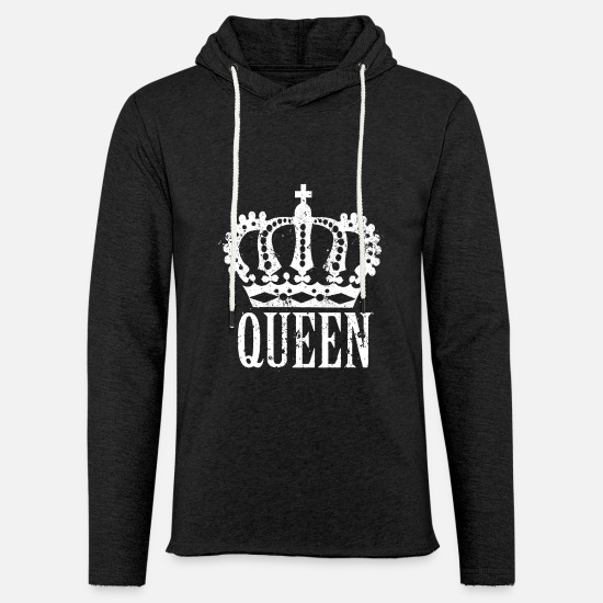 Engagement Hoodies & Sweatshirts - Queen with crown - Unisex Sweatshirt Hoodie charcoal grey