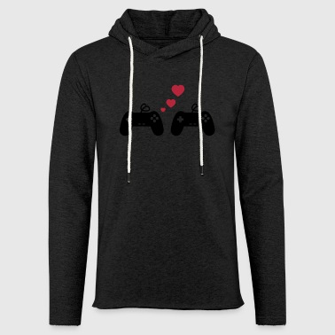 Mariage Game Love, Geek, Couple, Gaming, Gamer - Sweat-shirt à capuche léger unisexe