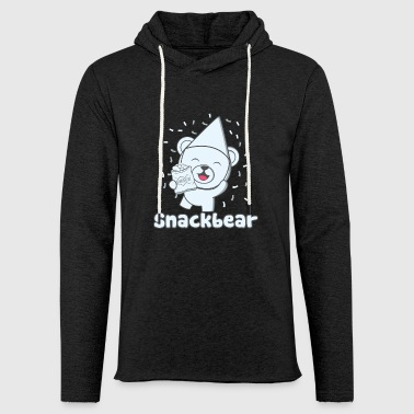 Snack bear / snack bear with hat - Light Unisex Sweatshirt Hoodie