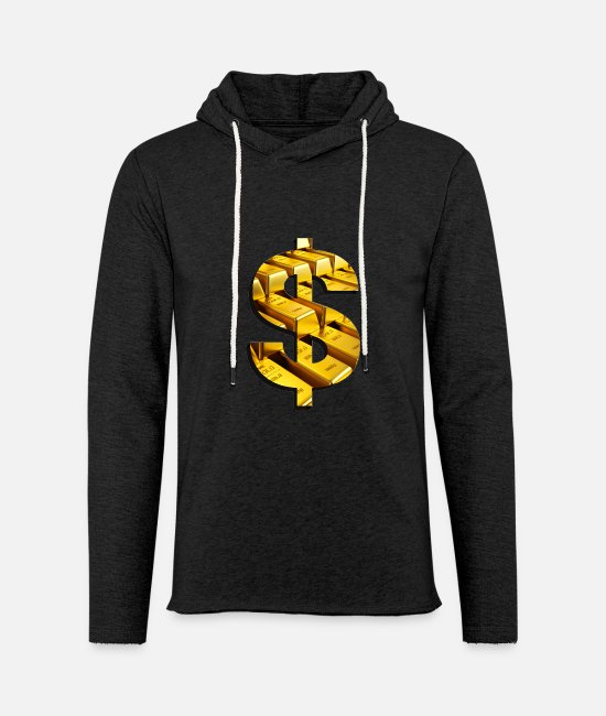 Wealth Hoodies & Sweatshirts - gold - Unisex Sweatshirt Hoodie charcoal grey