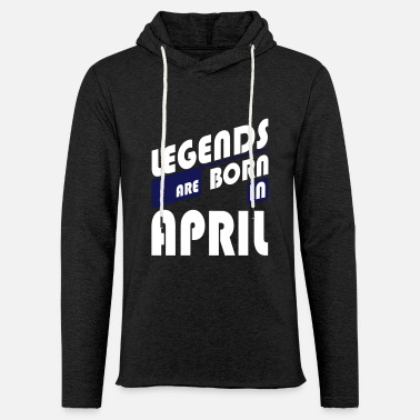 Legends April - Sweat-shirt à capuche léger unisexe