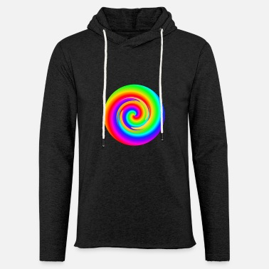 Rainbow spiral - Light Unisex Sweatshirt Hoodie