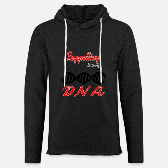 Funny Quotes Sweaters & hoodies - In My DNA DNS Hobby Fun Abseilen - Unisex sweatshirt hoodie houtskool