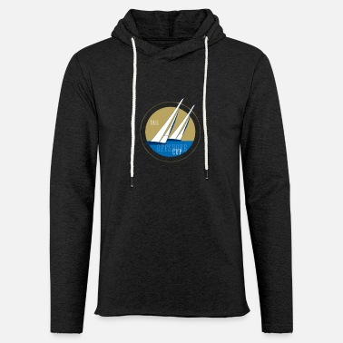Sailboat offshore sail sailing regatta match race sailboat - Light Unisex Sweatshirt Hoodie