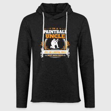 Paintball onkel - Let sweatshirt med hætte, unisex