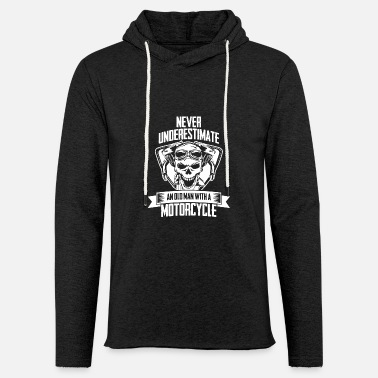 Biker Motorcycle for bikers with skull - Light Unisex Sweatshirt Hoodie