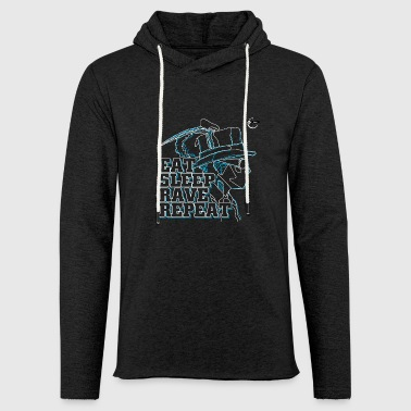 Repeat Eat, Sleep, Rave & Repeat - Light Unisex Sweatshirt Hoodie