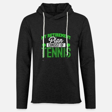 tennis - Sweat-shirt à capuche léger unisexe