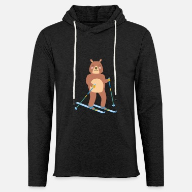 Sports Bear ice skiing cute sport winter gift idea - Unisex Sweatshirt Hoodie