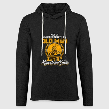 Old Man Mountain Bike Bicycle Gift - Light Unisex Sweatshirt Hoodie