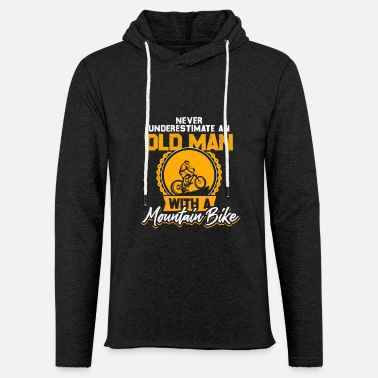 Man Old Man Mountain Bike Bicycle Gift - Lichte hoodie unisex