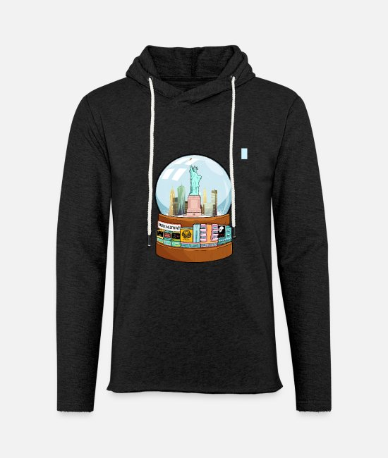 Movie Hoodies & Sweatshirts - New York Broadway Snow Globe Funny Gift - Unisex Sweatshirt Hoodie charcoal grey