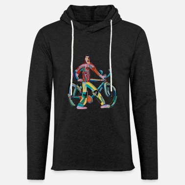 Cooler Retro Radfahrer 80er Kunst Sport Motivation - Unisex Kapuzen-Sweatshirt