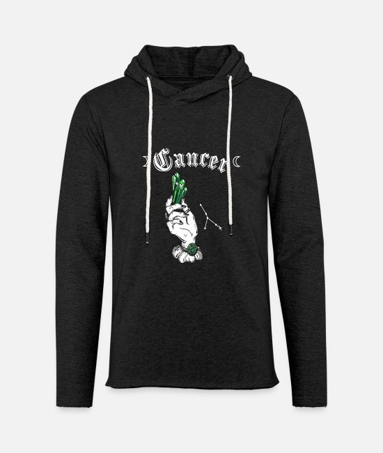 Zodiac Hoodies & Sweatshirts - Cancer Emerald - Unisex Sweatshirt Hoodie charcoal grey