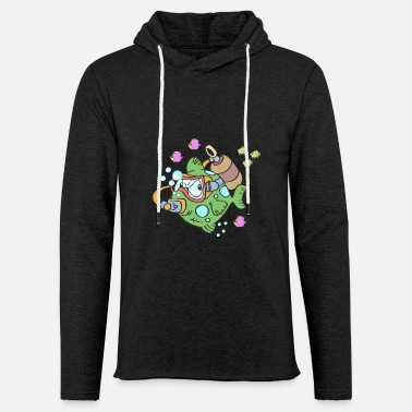 Diving Diver Green fish under water - Unisex Sweatshirt Hoodie