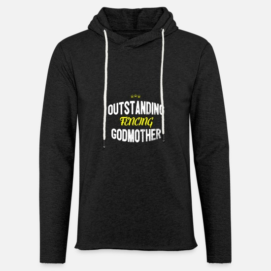 Sword Hoodies & Sweatshirts - Distressed - OUTSTANDING FENCING GODMOTHER - Unisex Sweatshirt Hoodie charcoal grey