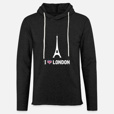 I Love London I love London shirt Fun - Sweat-shirt à capuche léger unisexe