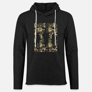 Army Vintage Christmas Gifts. Camouflage.Army Soldiers. - Light Unisex Sweatshirt Hoodie