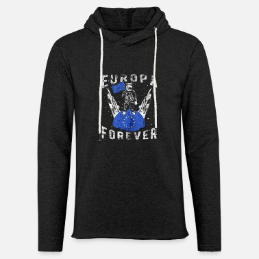 Pro Europe Forever astronaut moon politics flag EU - Light Unisex Sweatshirt Hoodie